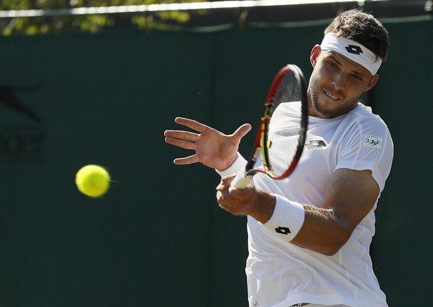 Jiří Veselý do 3. kola dvouhry na Wimbledonu neprošel.