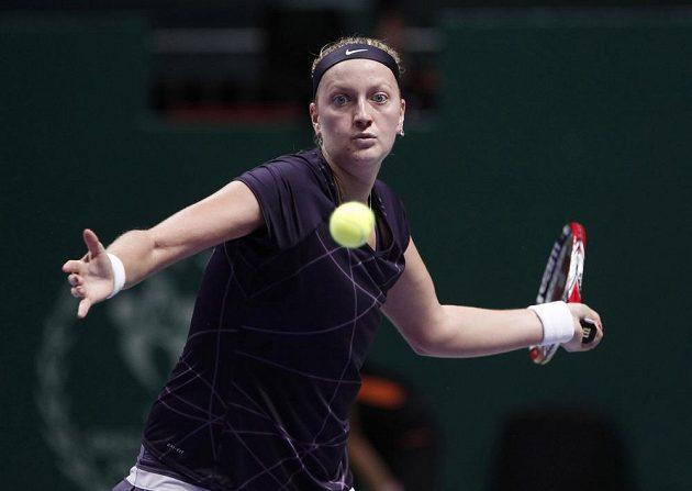Petra Kvitová během zápasu s Němkou Angelique Kerberovou.