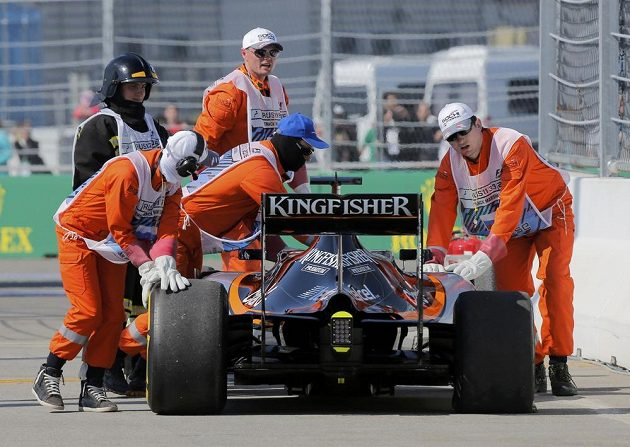 Pro Nica Hülkenberga z Force India letošní Velká cena Ruska skončila velice záhy.