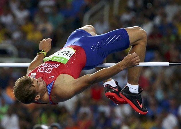 Adam Sebastian Helcelet ve výšce.