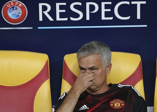 Trenér Manchesteru United José Mourinho se úspěchu v Superpoháru UEFA znovu nedočkal.