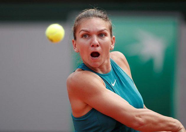 Rumunka Simona Halepová během finálového zápasu na French Open.