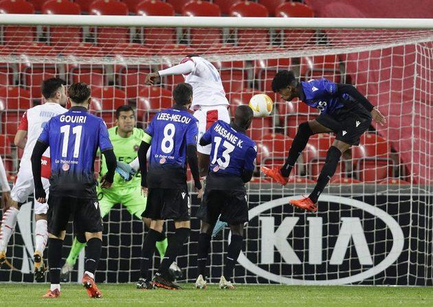 Abdallah Sima dává druhý gól Slavie