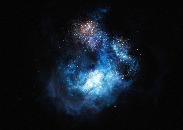 Nově objevená galaxie nese název CR7 po portugalské hvězdě Realu Madrid.