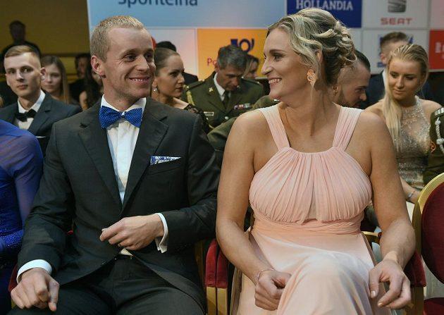 Vítěz ankety Atlet roku byl vyhlášen 11. listopadu na galavečeru v Praze. Na snímku atleti oštěpáři Jakub Vadlejch a Barbora Špotáková.