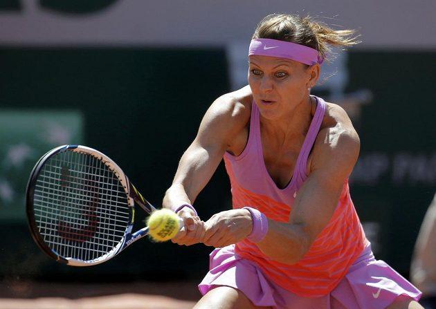 Lucie Šafářová během finále Roland Garros.