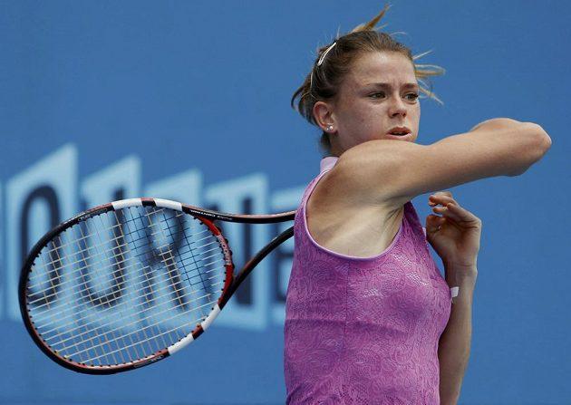 Italka Camila Giorgiová v duelu druhého kola Australian Open proti Tereze Smitkové.