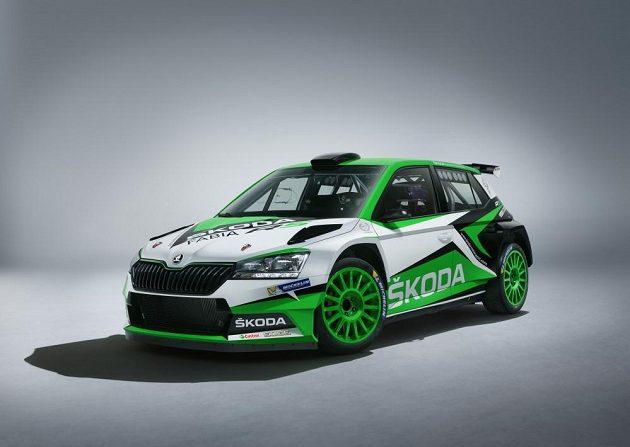 Modifikovaná verze Škody Fabia R5, která bude nasazena do závodů v nadcházejícím roce.
