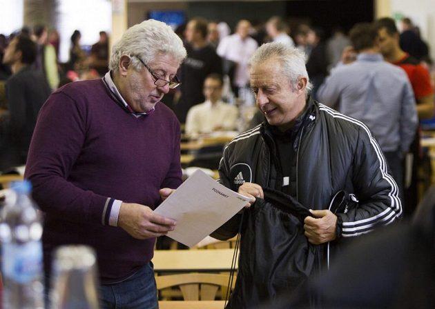 Marc van Geersom (vlevo) s Alfredem Galustianem.