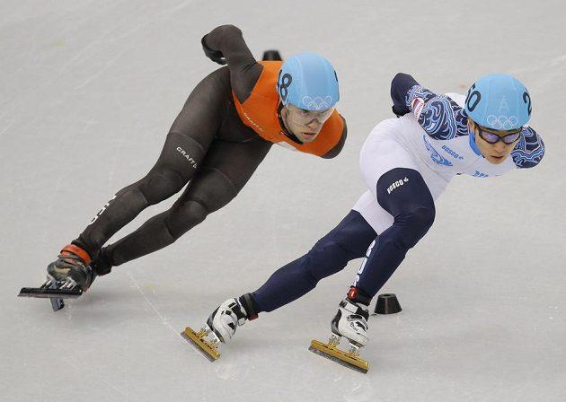 Ruský rychlobruslař Viktor An získal v shorttracku na 1000 m zlato.
