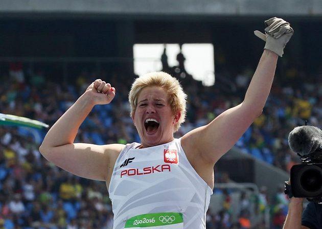 Radost polské olympijské vítězky Anity Wlodarczykové.