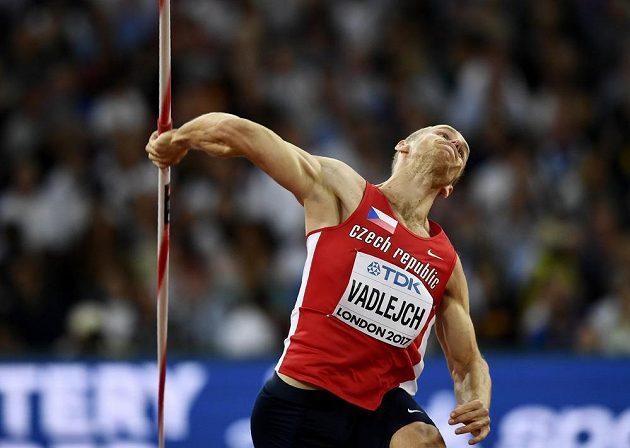 Český oštěpař Jakub Vadlejch ve finále na MS v Londýně.