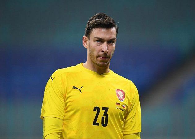 Český brankář Jiří Pavlenka při utkání v Německu.