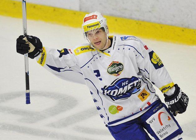 Brněnský František Ptáček rozhodl nájezdy v nedělním utkání na ledě Mladé Boleslavi.