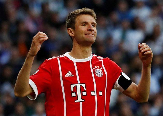 Thomas Müller z Bayernu během odvety semifinále Ligy mistrů proti Realu.