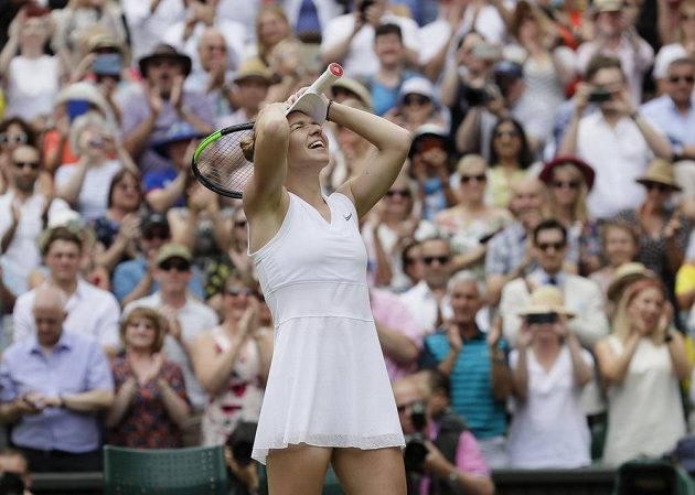 Simona Halepová se laví svůj druhý grandslamový titul