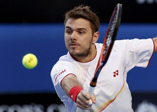 Bekhend Stanislase Wawrinky v semifinále Australian Open.
