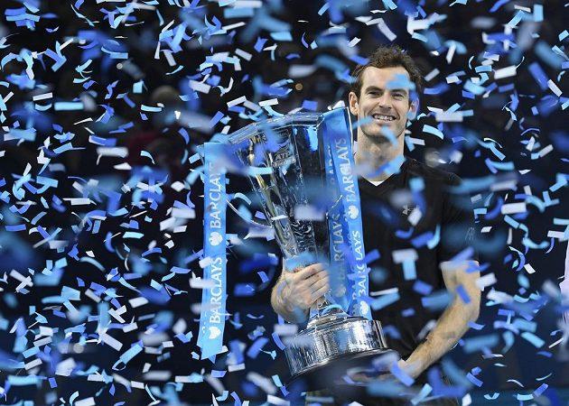 Šťastný vítěz Turnaje mistrů Andy Murray.