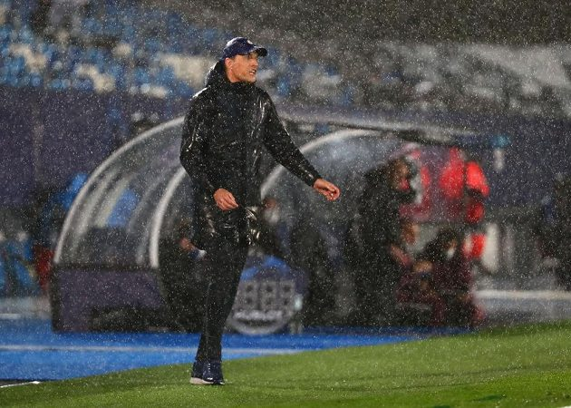 Kouč Chelsea Thomas Tuchel v semifinále Ligy mistrů proti Realu.