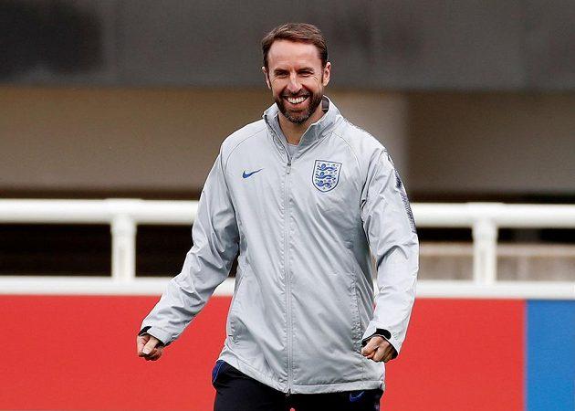 Manažer anglické fotbalové reprezentace Gareth Southgate během tréninku.