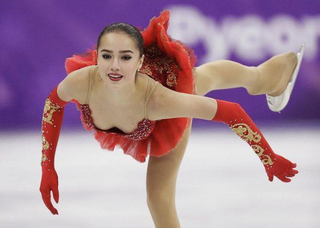 Alina Zagitovová z týmu nezávislých sportovců z Ruska a její olympijské představení.