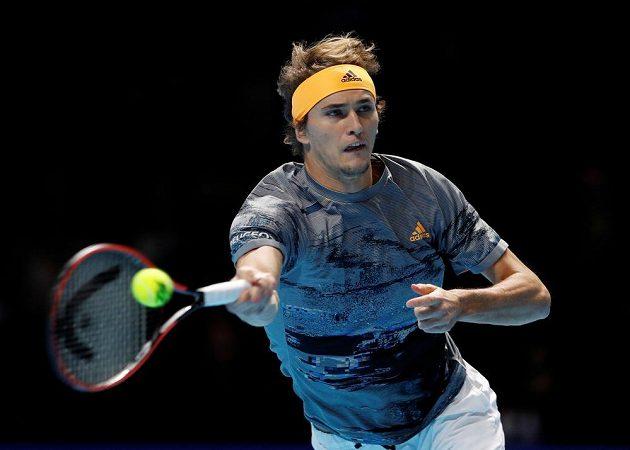 Alexander Zverev v semifinále Turnaje mistrů.
