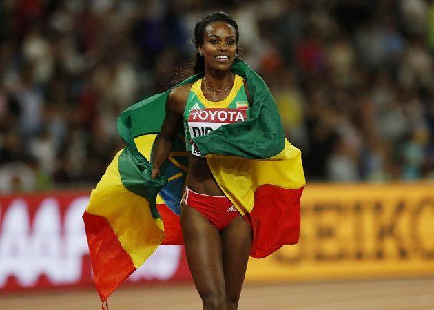 Genzebe Dibabaová triumfovala ve finále běhu na 1500 metrů.