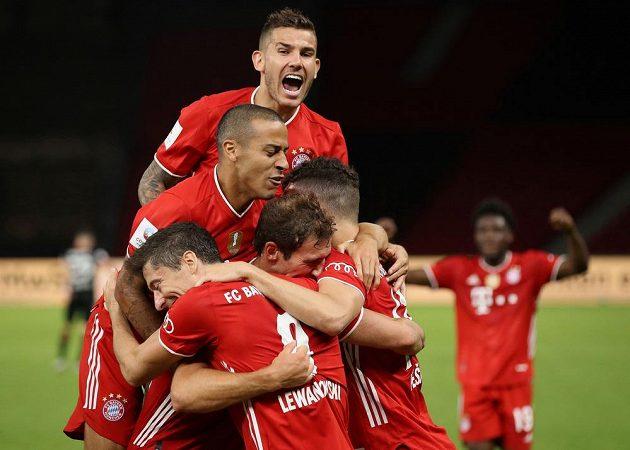 Fotbalisté Bayernu Mnichov dokázali znovu po roce vyhrát Německý pohár.