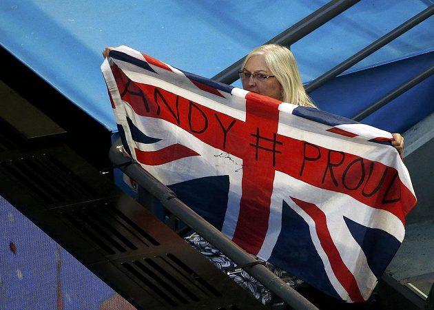 Fanynka Andyho Murrayho během semifinále Australian Open.