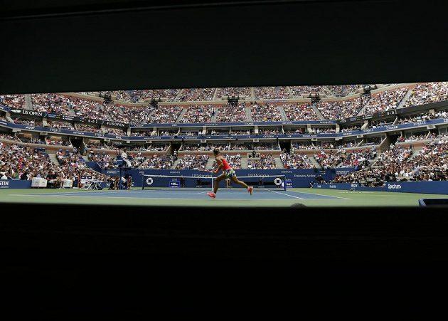 Nezvyklý pohled na finále US Open mezi Karolínou Plíškovou a Angelique Kerberovou z Německa.