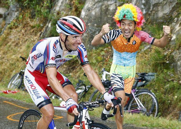 Joaquim Rodríguez v posledním stoupání do cíle 12. etapy Tour de France.
