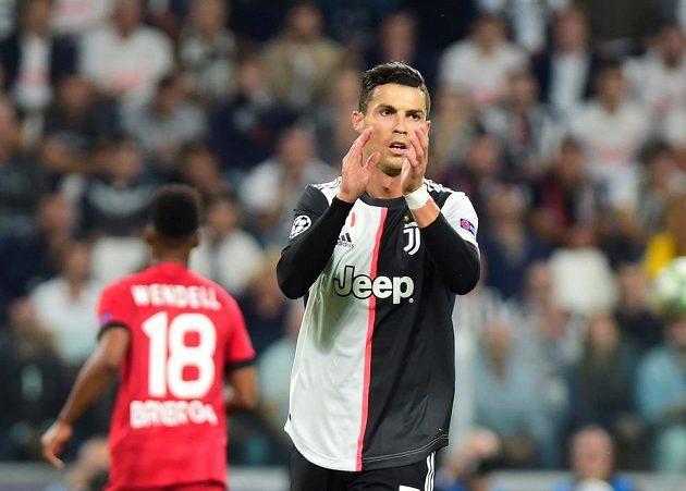 Hvězdný Cristiano Ronaldo se dresu Juventusu dočkal také v Lize mistrů gólové radosti,