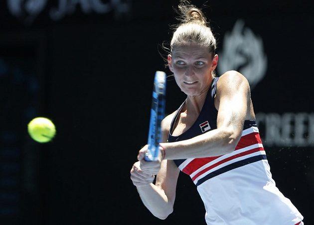 Karolína Plíšková v utkání 2. kola Australian Open.
