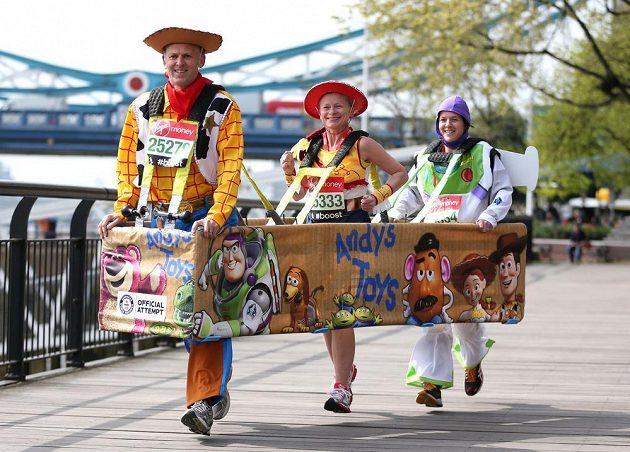 Nejrychlejší kostým pro tři běžce.