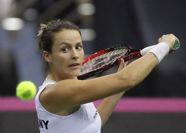 Němka Tatjana Mariaová během utkání Fed Cupu v Bělorusku.