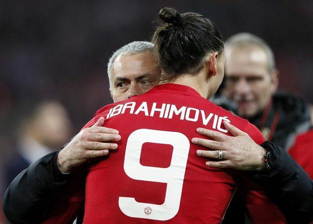 Dva největší strůjci manchesterského úspěchu - Trenér José Mourinho a útočník Zlatan Ibrahimovič.