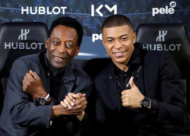 Fotbalový král Pelé byl na schůzce s talentovaným francouzským reprezentantem Kylianem Mbappém dobře naladěný, pak ale skončil v nemocnici.