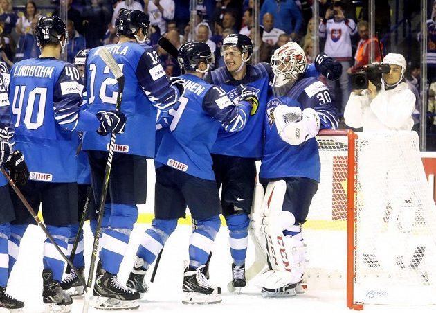 Finská hokejová radost. Výběr Suomi na mistrovství světa vyhrál nad Kanadou.