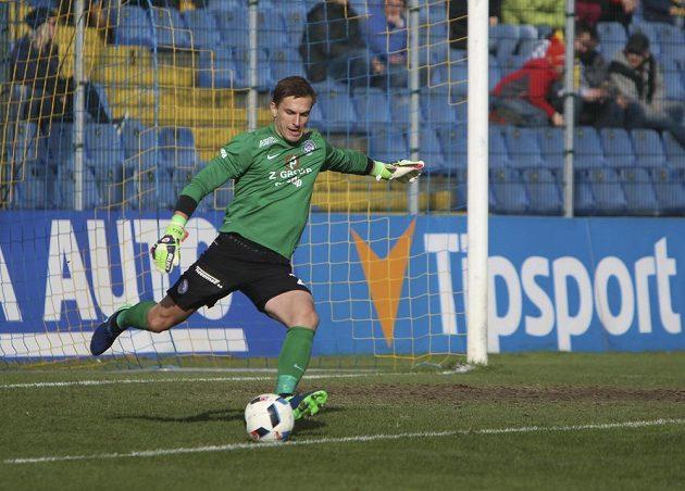 Milan Heča ze Slovácka při utkání ve Zlíně.