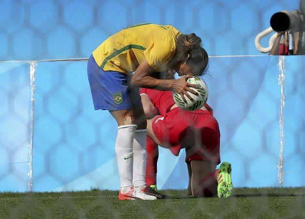 Brazilka Marta se svým týmem na medaili doma nedosáhla.