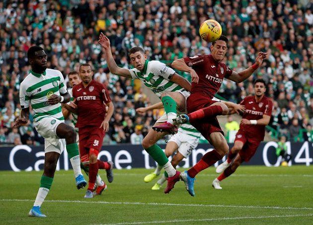 Odvetný zápas třetího předkola Ligy mistrů mezi Celtikem Glasgow a Kluží