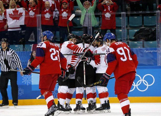 Kanadská radost, český smutek v boji otřetí míst.