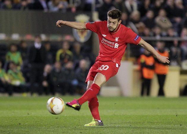 Adam Lallana z Liverpoolu v zápase proti Villarrealu.
