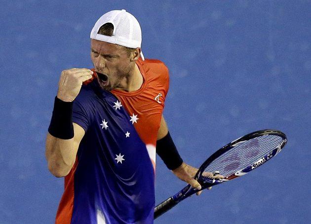 Lleyton Hewitt v prvním kole svého posledního Australian Open.