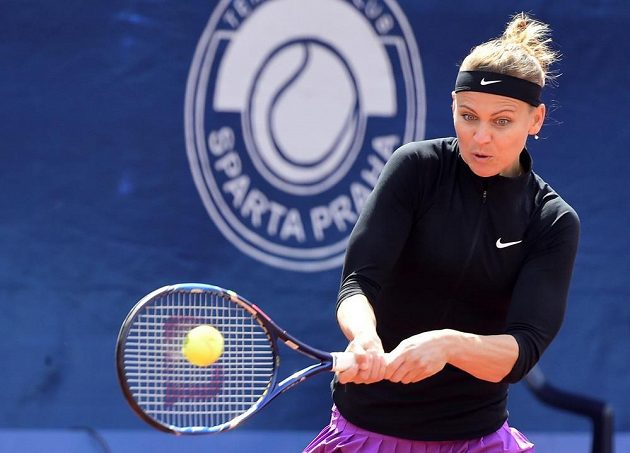 Česká tenistka Lucie Šafářová ve čtvrtfinále turnaje WTA v Praze.