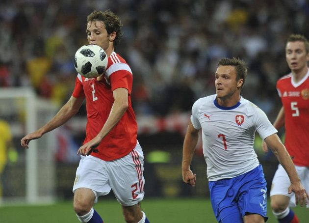 Stanislav Tecl (vpravo) a ruský reprezentant Mario Fernandes.