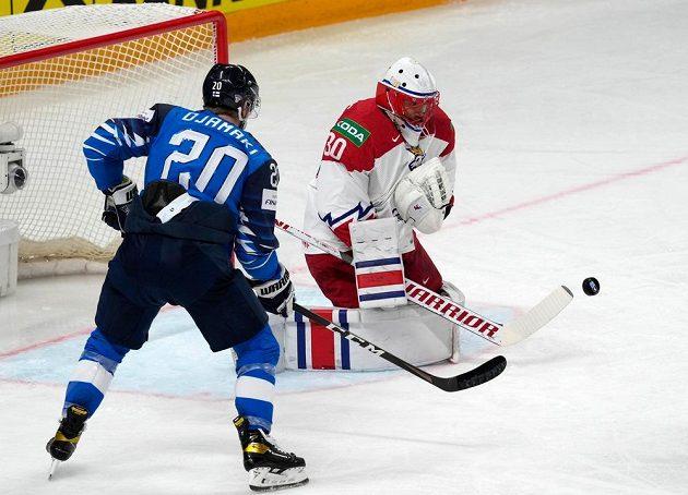 Šimon Hrubec likviduje finskou šanci