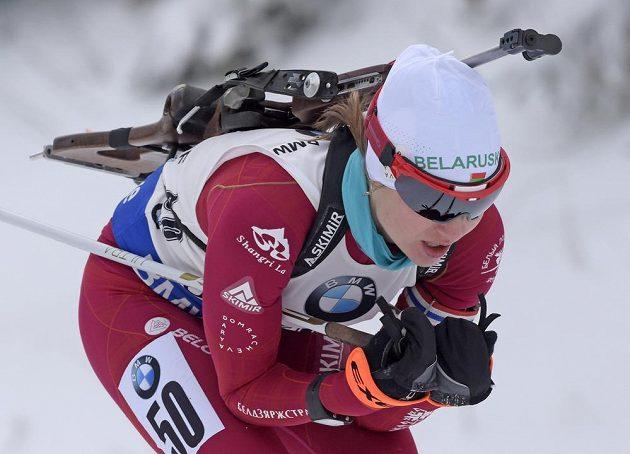 Běloruska Darja Domračevová se po dlouhé pauze vrátila v Oberhofu do Světového poháru.