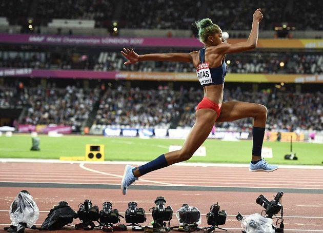 Yulimara Rojasová z Venezuely si doskočila v trojskoku pro titul světové šampiónky.