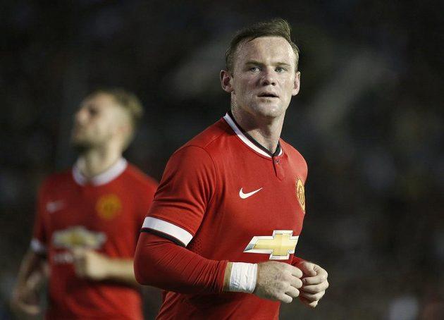 Útočník Manchesteru United Wayne Rooney rozvlnil síť Los Angeles hned dvakrát.